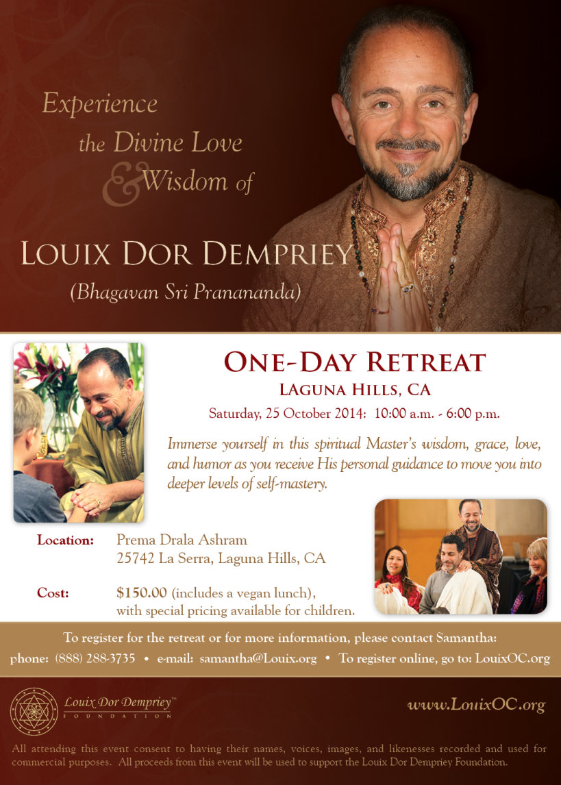 One-Day Retreat with Louix Dor Dempriey - 24 Oct 2014